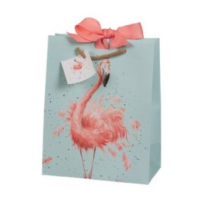 Wrendale Small Flamingo Gift Bag